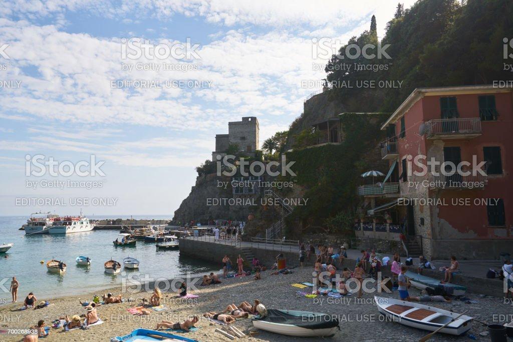 Monterosso al Mare Beach stock photo