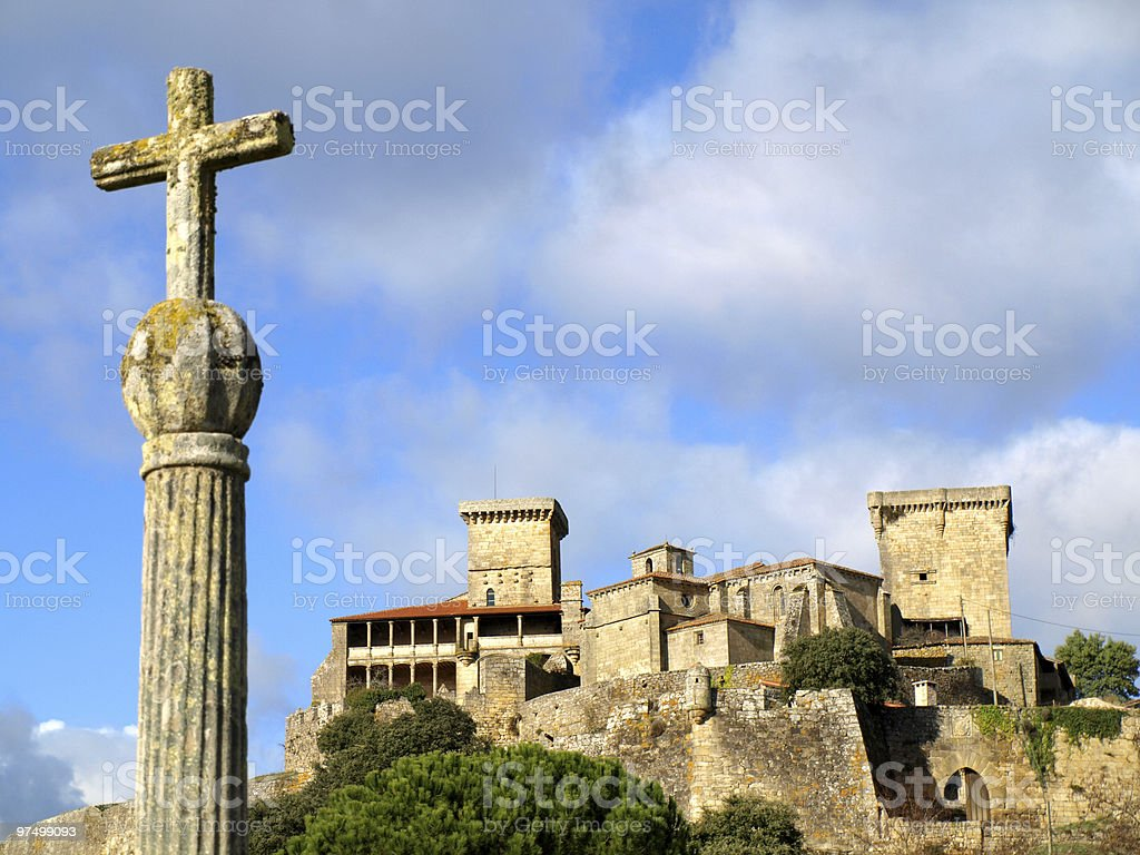 Monterrei Castle in Verin royalty-free stock photo