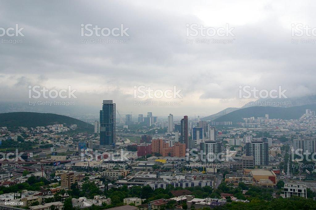 Monterrey cityscape stock photo