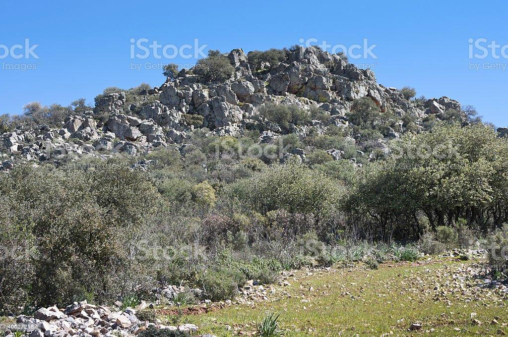 Montes de Toledo stock photo