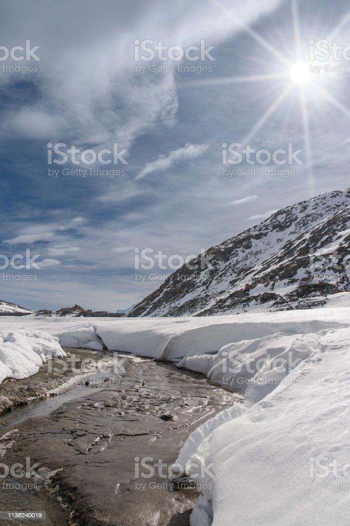 Montespluga Lake, Sondrio, Italy 2:3 - Стоковые фото Без людей роялти-фри