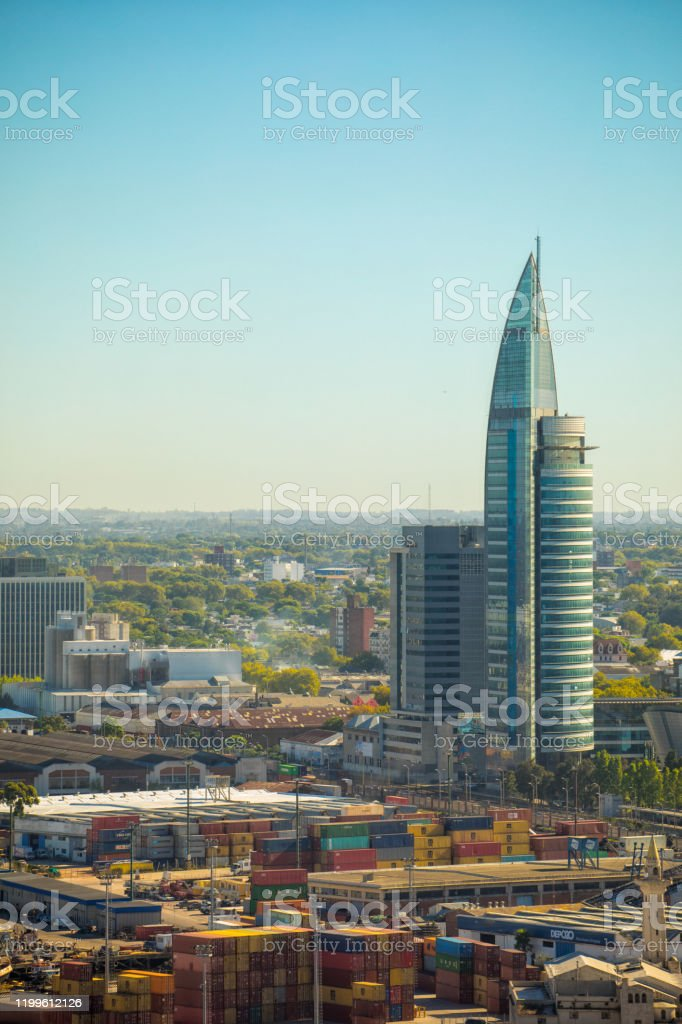 Montevideo van bovenaf - Royalty-free Architectuur Stockfoto