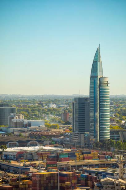 Montevideo van bovenaf foto