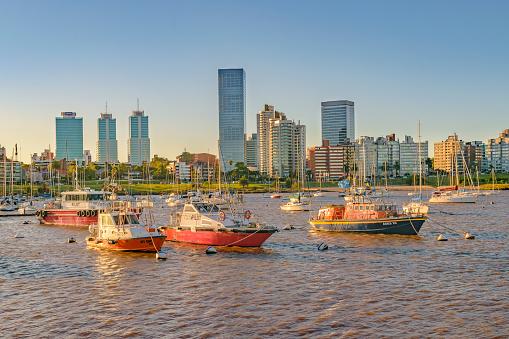 Montevideo Small Port Cityscape Uruguay Stock Photo