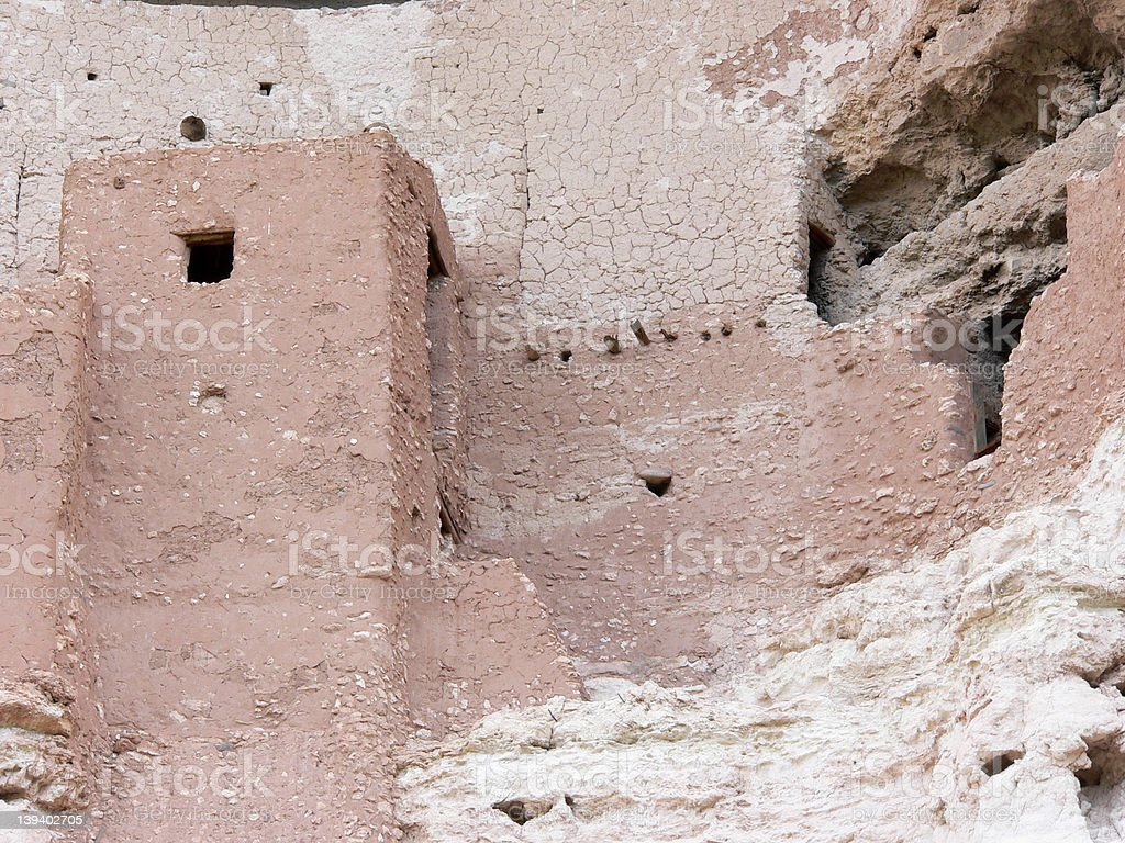 Montezuma Castle - Detail stock photo