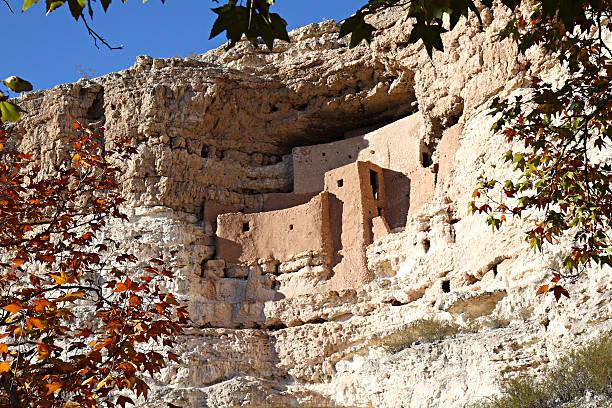 Montezuma Castle Indian Cliff Dwelling Ruins, Arizona stock photo