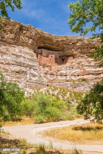 Montezuma Castle National Monument in Arizona, USA.