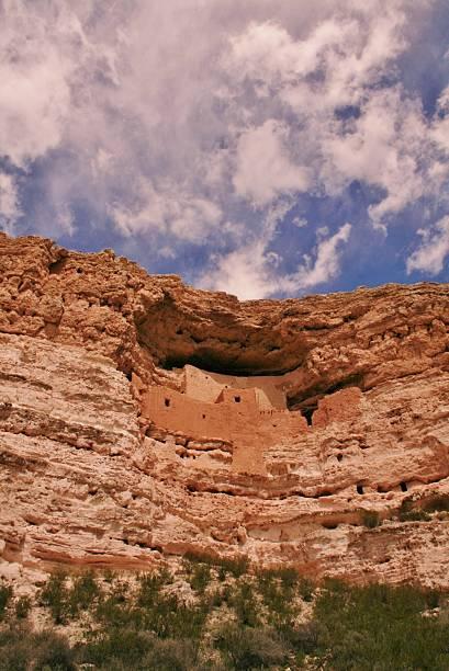montezuma castle national monument - hopi stock photos and pictures