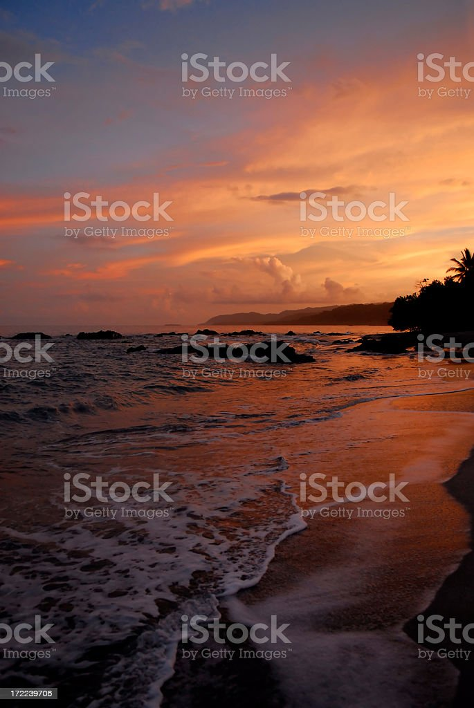 Montezuma Sunset stock photo