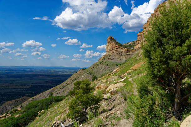 Montezuma Valley Overlook in Mesa Verde National Park stock photo