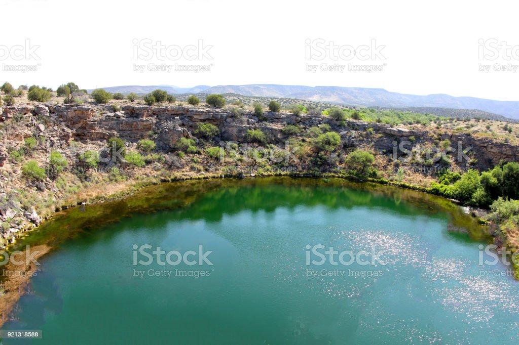 Montezuma well in Arizona stock photo