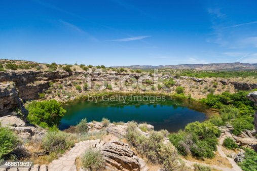 Montezuma Well is part of Montezuma Castle National Monument in Arizona, USA.
