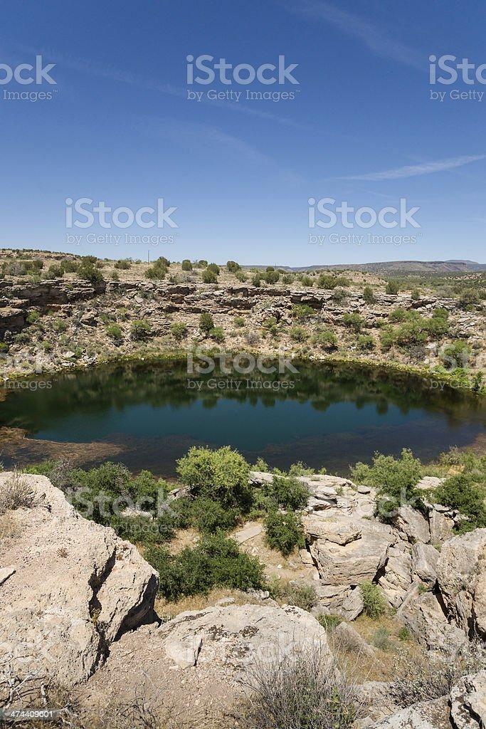 Montezuma Well in Arizona, USA stock photo