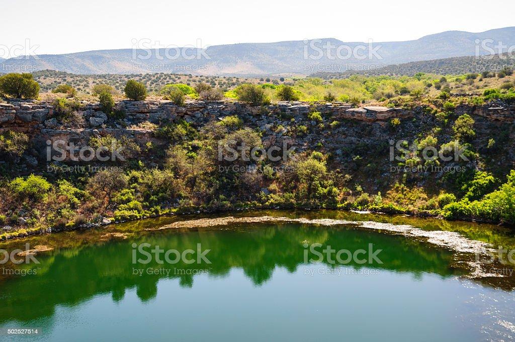 Montezuma Well unit of Montezuma Castle National Monument stock photo