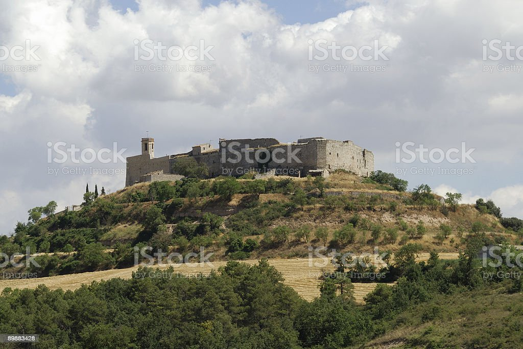 Montfalco Murallat (Catalonia, Spain), ancient village royalty-free stock photo