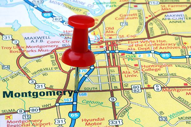 Montgomery Alabama Alabama Map Cartography - Bilder und Stockfotos ...