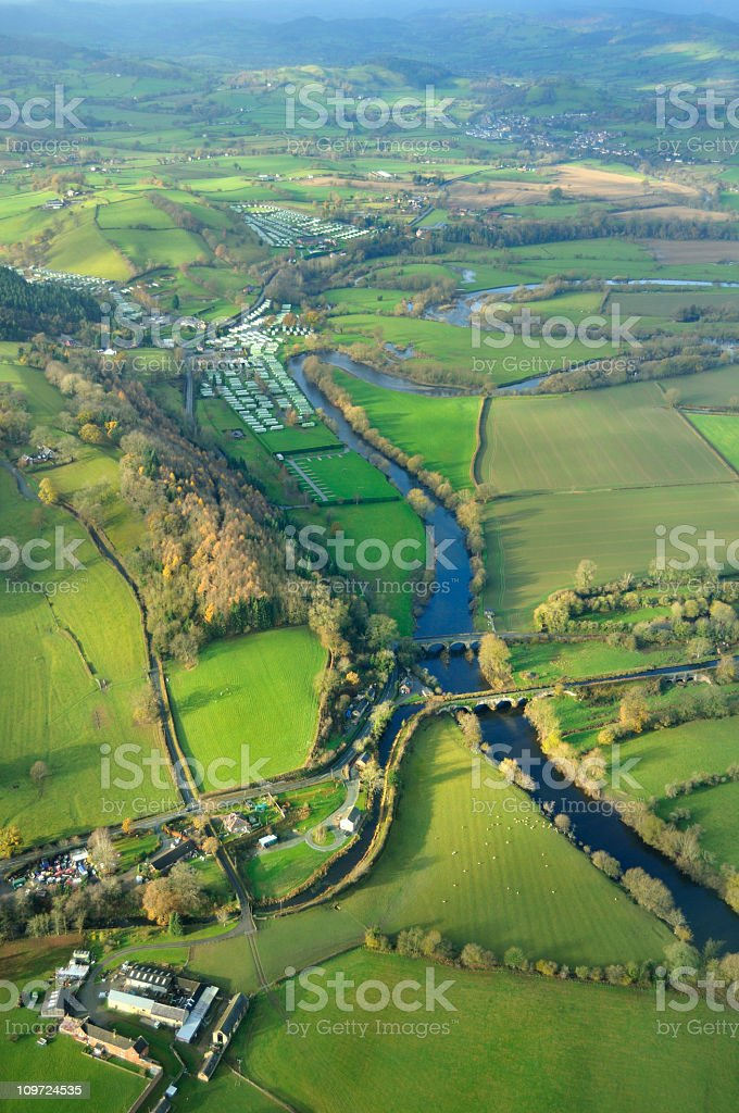 Montgomery Canal and the River Vyrnwy stock photo