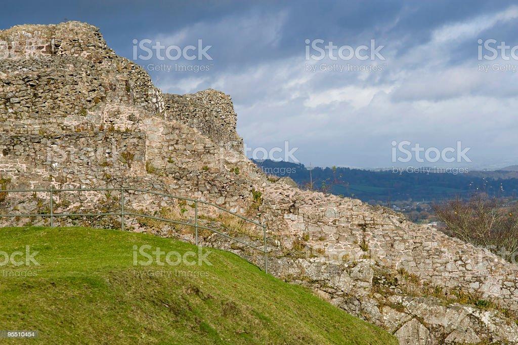 Montgomery Castle stock photo