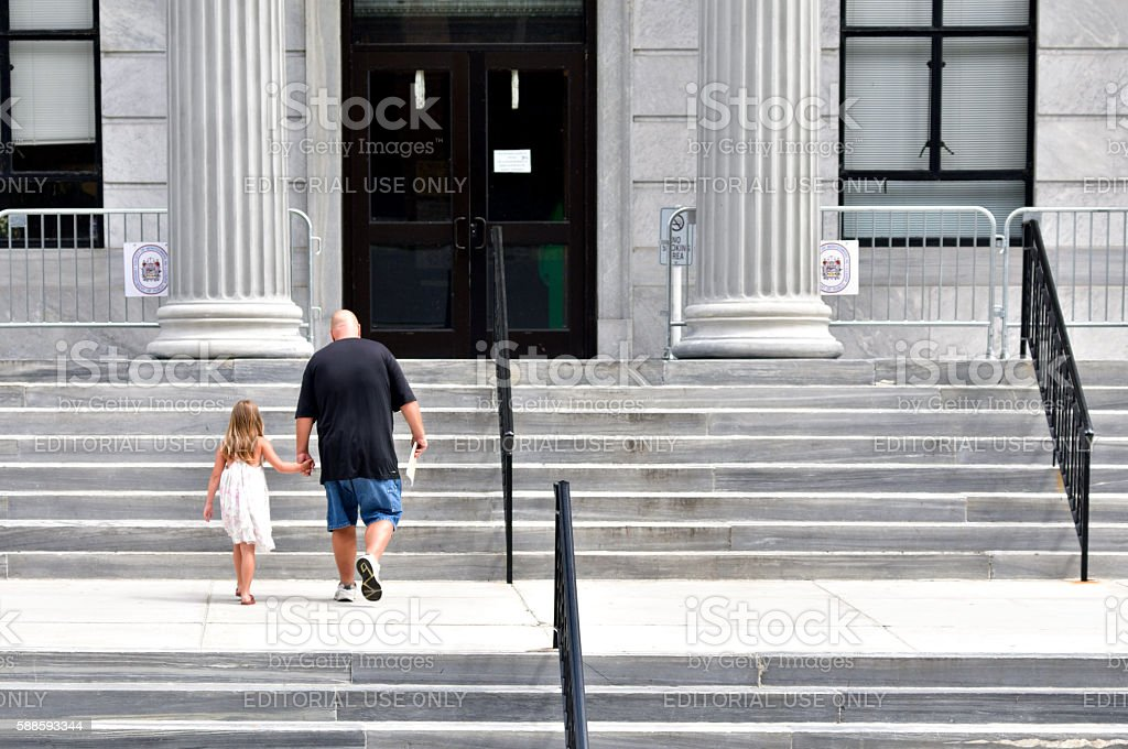 Montgomery County Court House, in Norristown, Pennsylvania stock photo