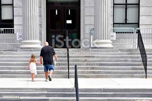 Montgomery County Court House In Norristown Pennsylvania Stock Photo & More Pictures of Architectural Column