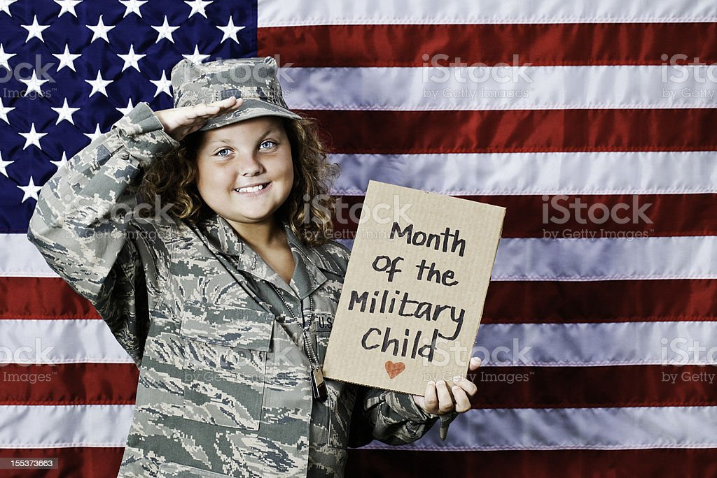 Month of the Military Child royalty-free stock photo