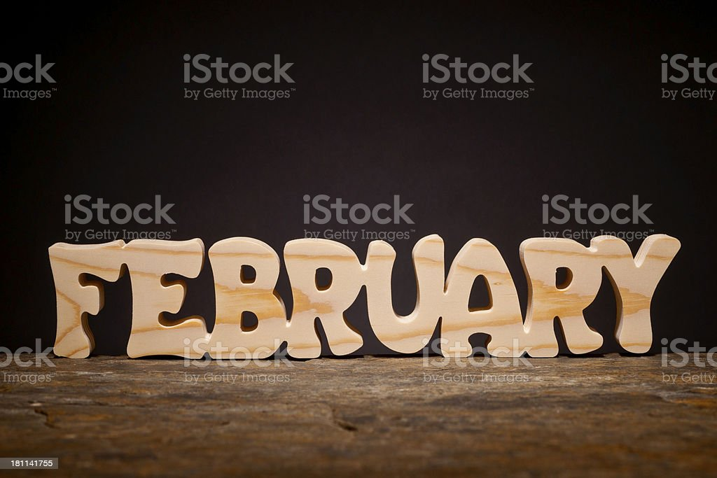 Month of the Year: February royalty-free stock photo