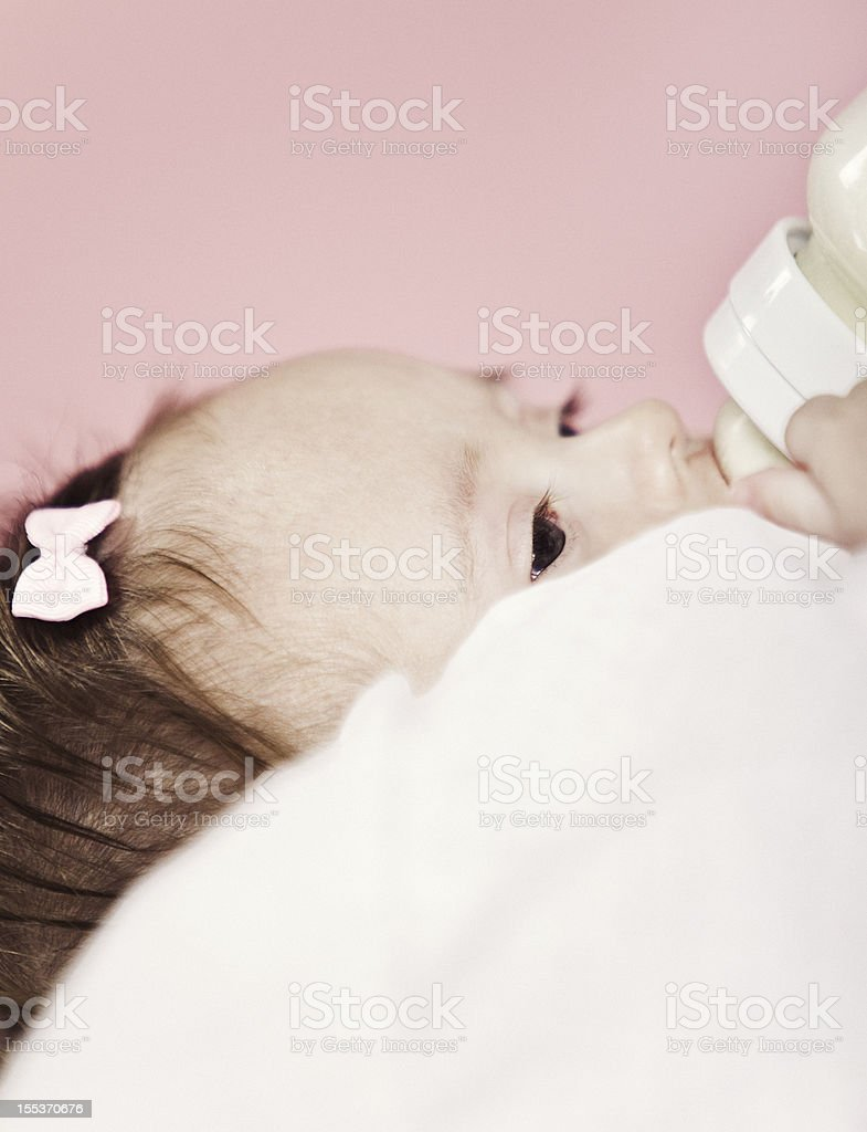 6 Month Old Baby-Feeding royalty-free stock photo