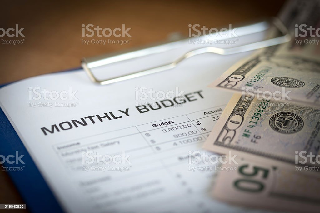 Monthly Budget Plan for Expenses and Money​​​ foto