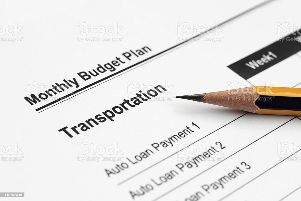Monthly budget plan royalty-free stock photo