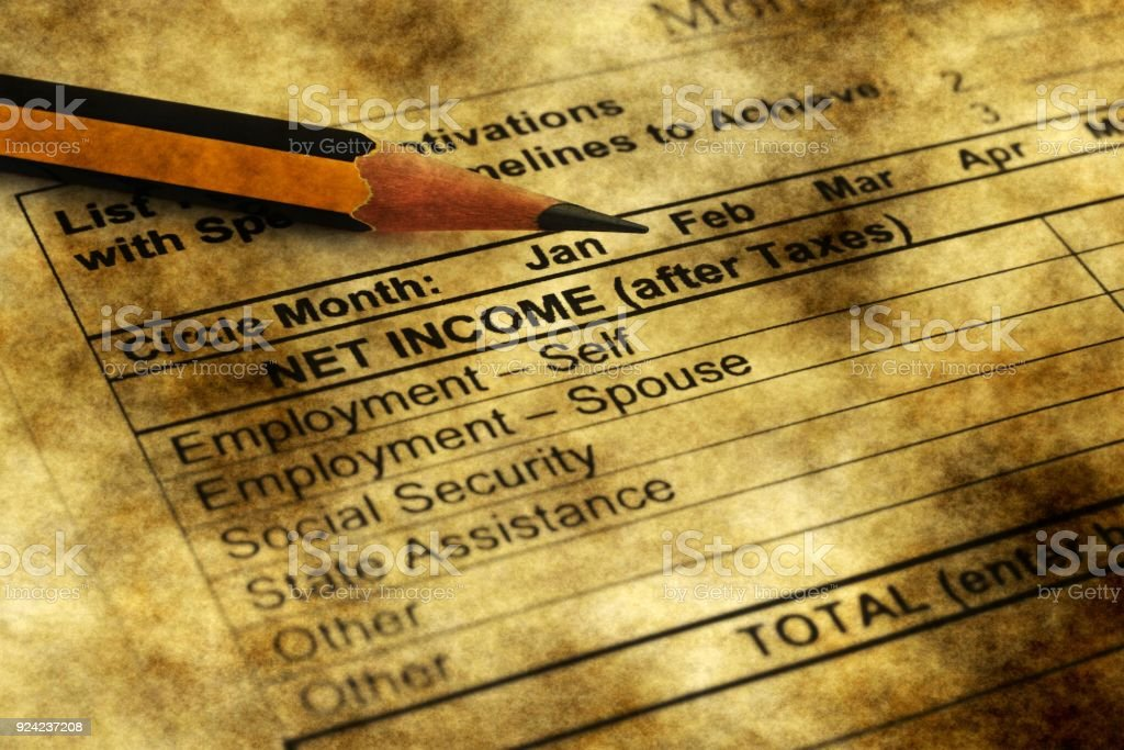 Monthly budget plan stock photo