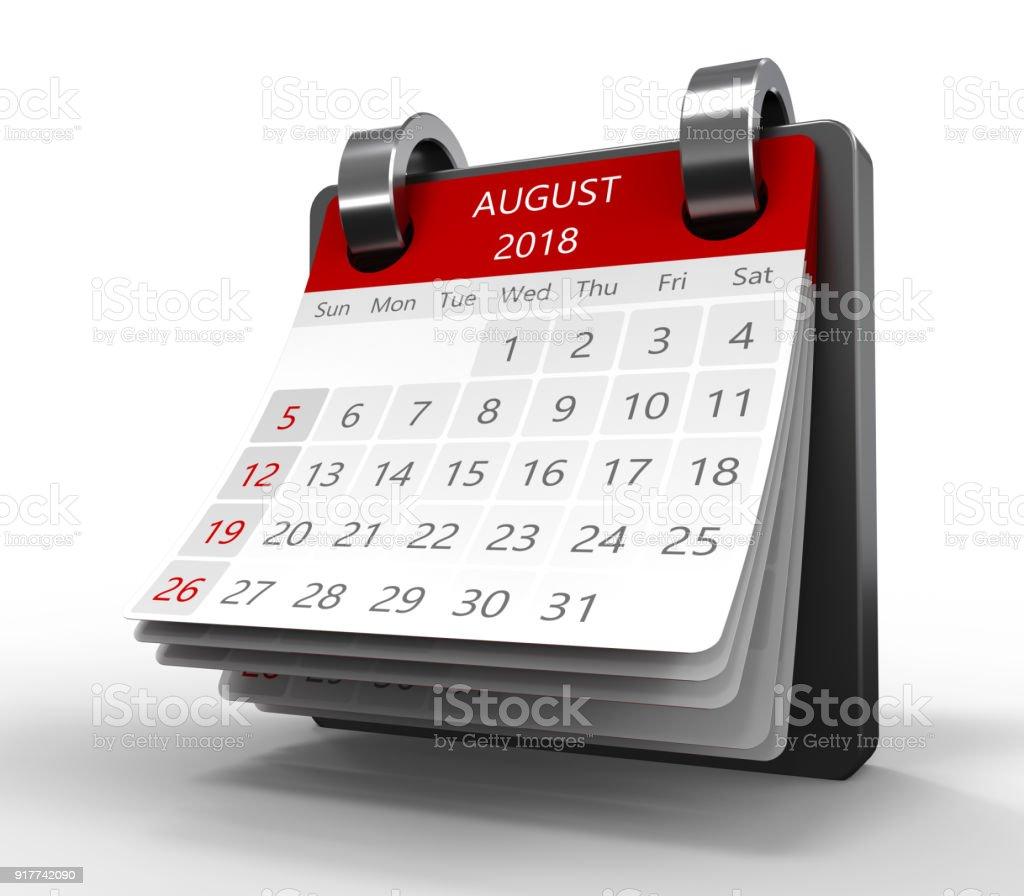 monthly calendar 3d stock photo