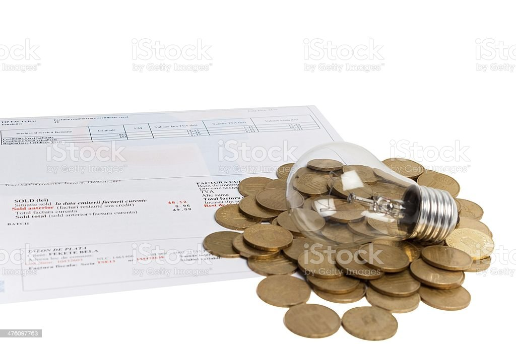 Monthly Consumption royalty-free stock photo