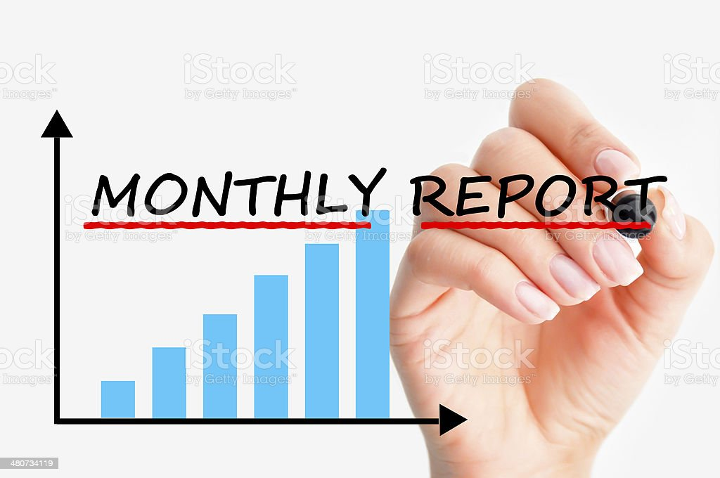 monthly management reports - Royalty-free Bank Statement Stock Photo
