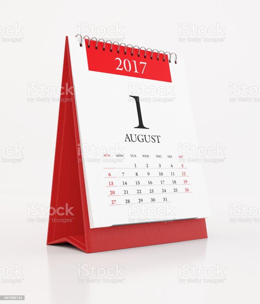 2017 monatlichen rote Tischkalender: August – Foto