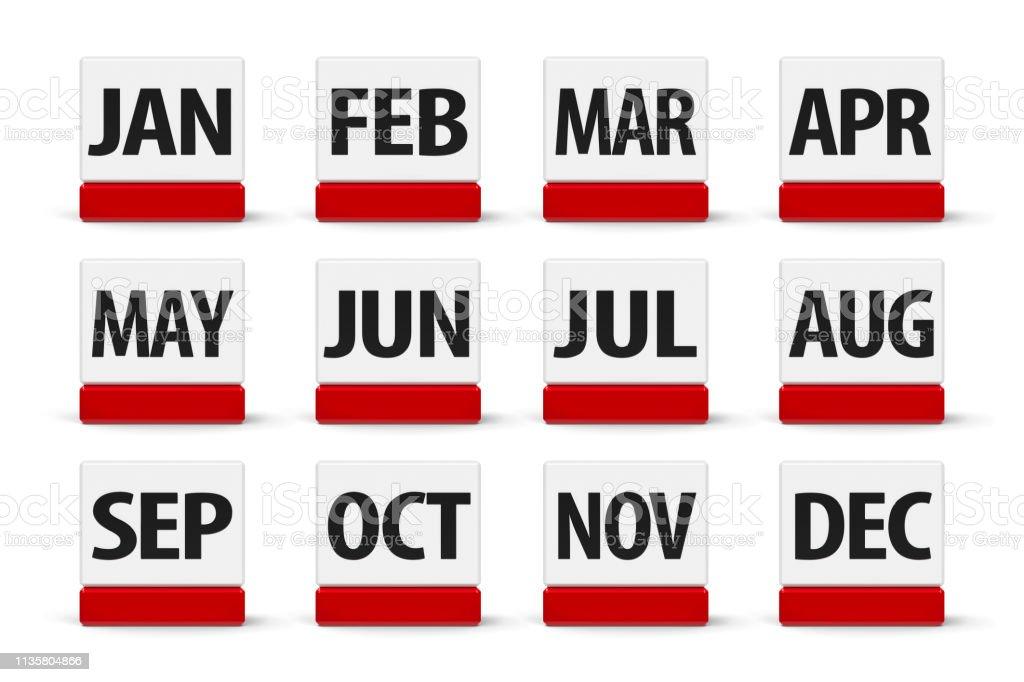 #2 do calendário dos meses - foto de acervo
