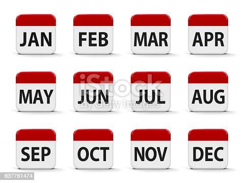 istock Months calendar 637761474