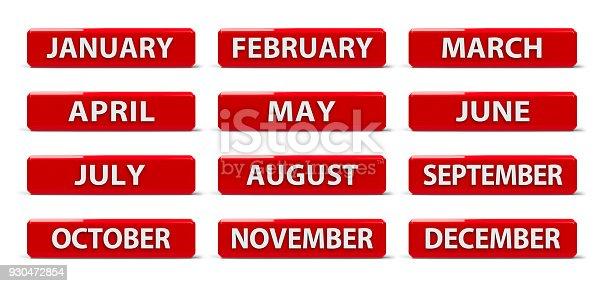968874704istockphoto Months calendar #2 930472854