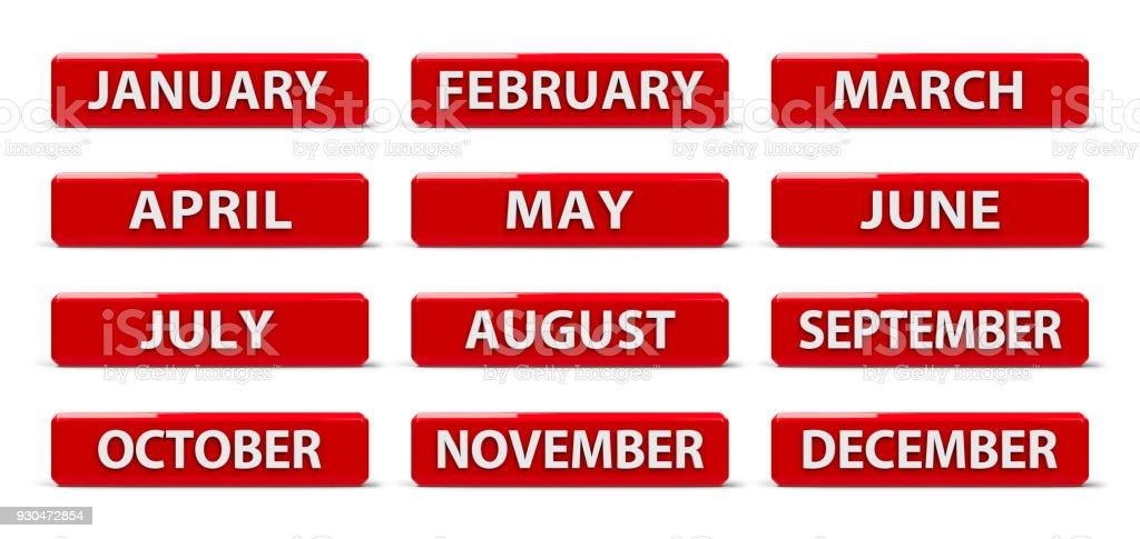 Calendário de meses #2 - foto de acervo