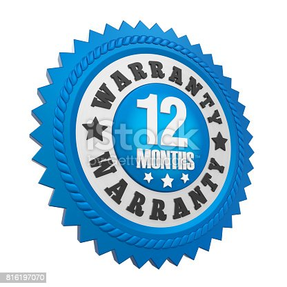 istock 12 Months Warranty Badge Isolated 816197070