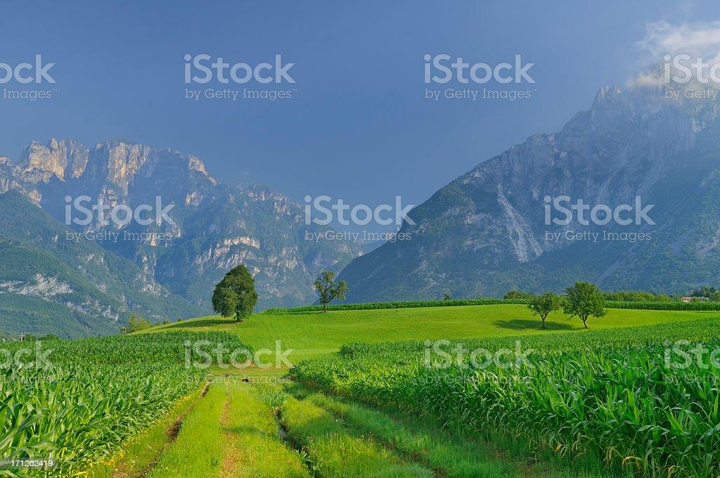 Monti Del Sole (The Sunshine Mountains - Italy) stock photo