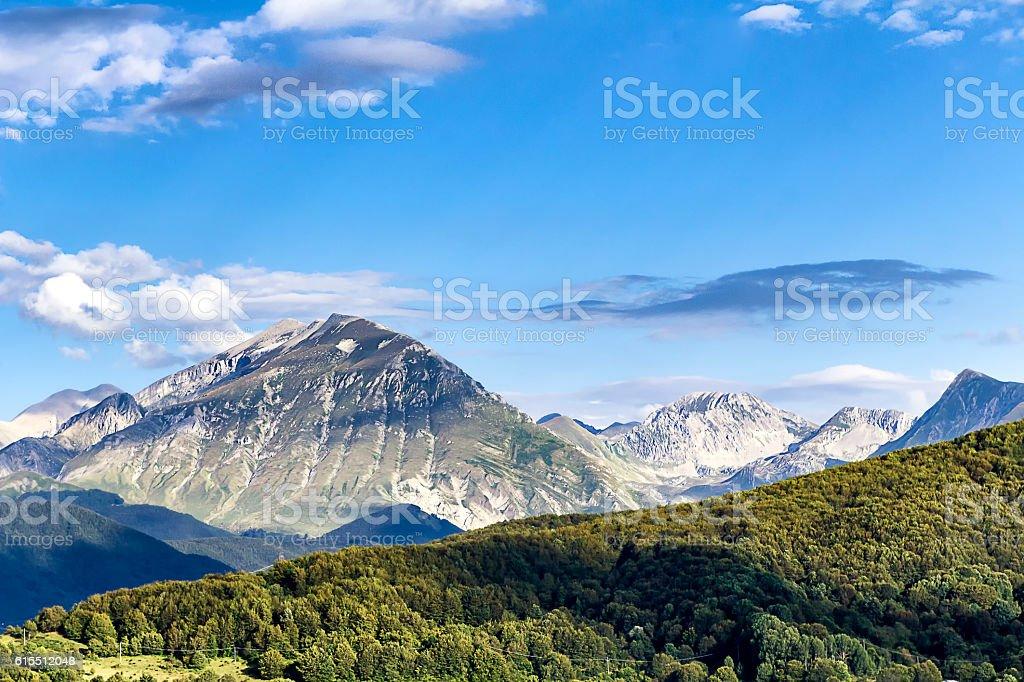 Monti della Laga stock photo