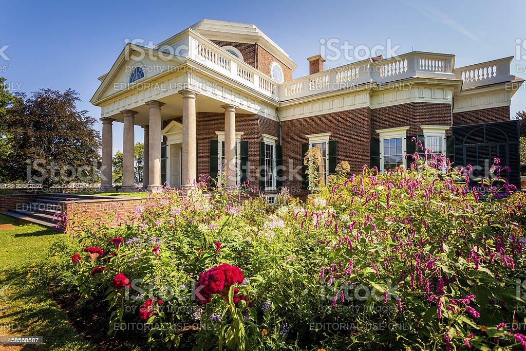 Monticello, House of Thomas Jefferson in Virginia, USA royalty-free stock photo