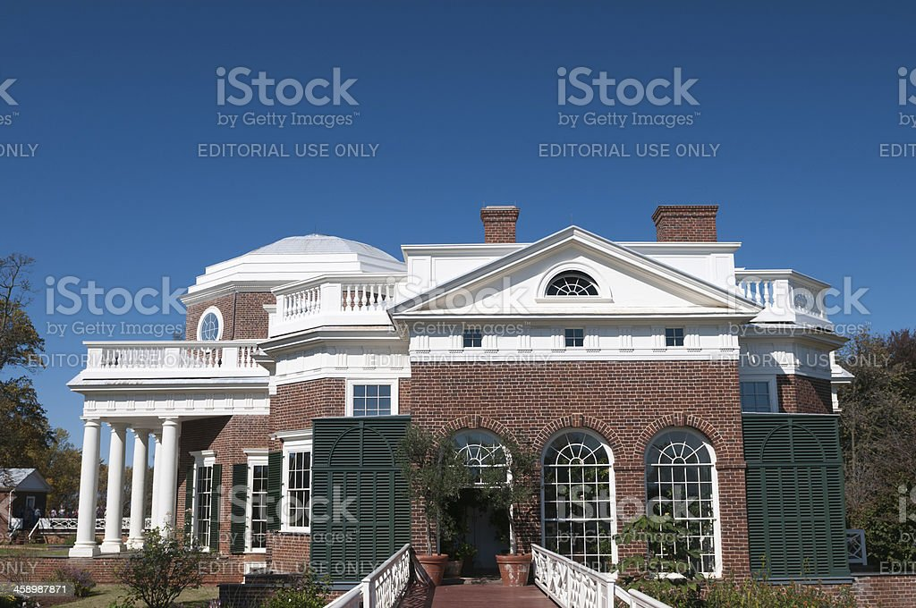Monticello in Charlottesville, Virginia, USA royalty-free stock photo