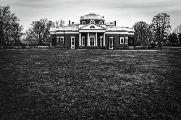 Monticello in March stock photo