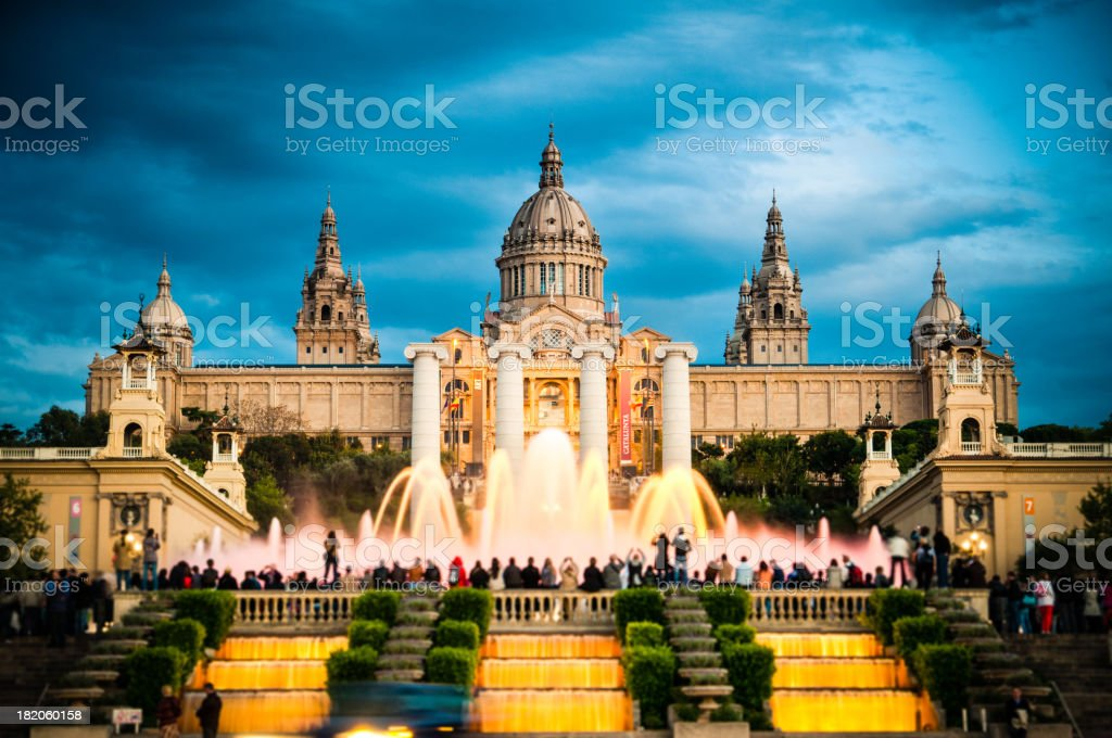Montjuic Barcelona stock photo