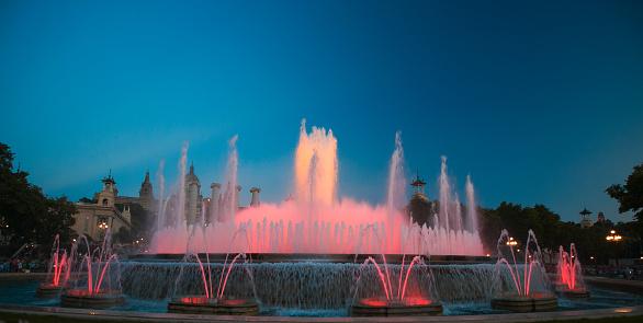 Montjuic Fountain (Magic Fountain), Barcelona, Spain