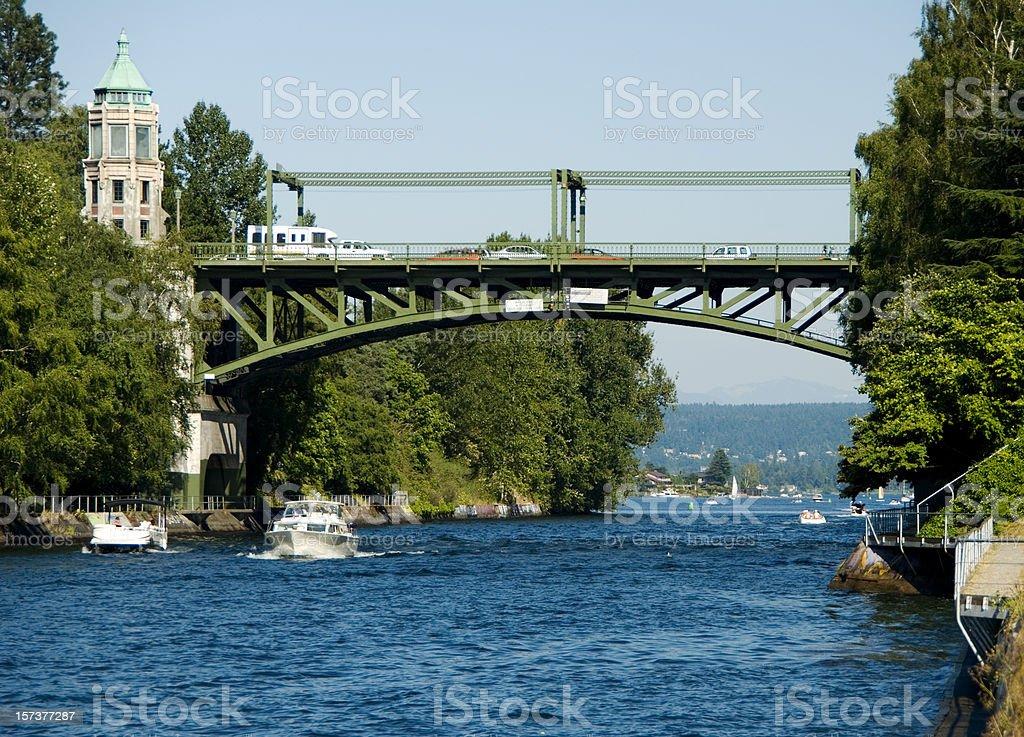 Montlake Bridge in Seattle, WA royalty-free stock photo