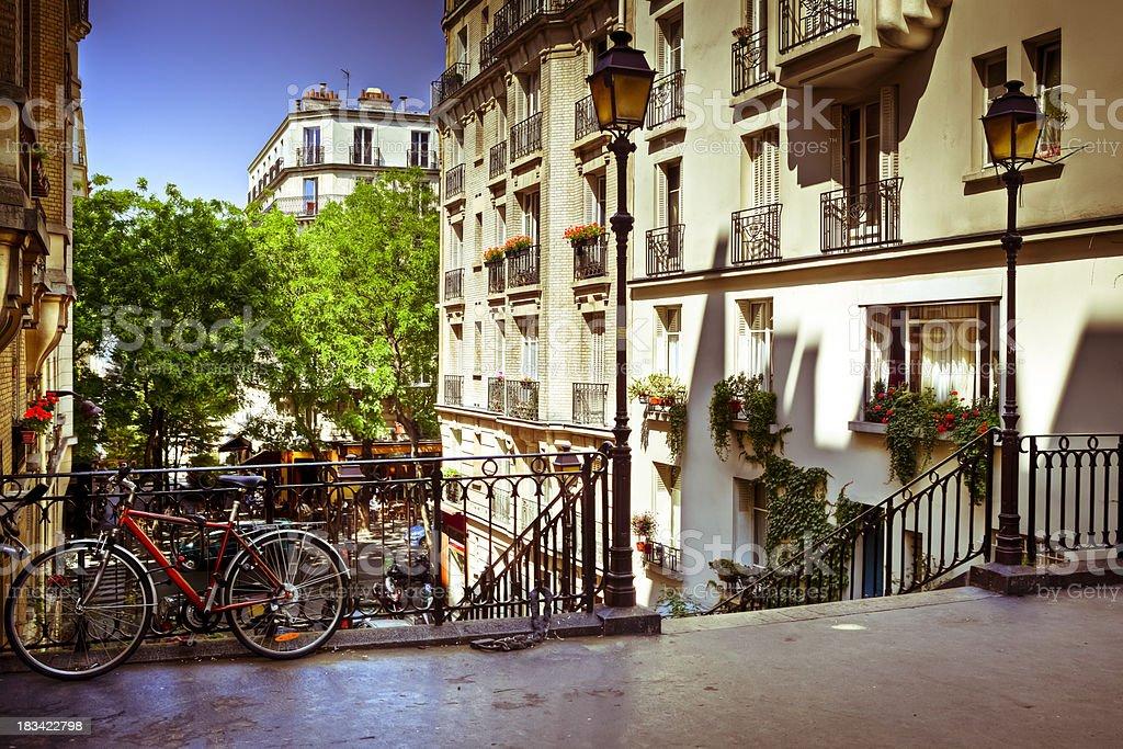 Montmarte staircase, Paris, France stock photo