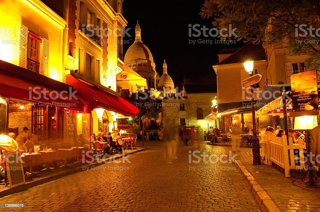Montmartre bei Nacht, Paris – Foto