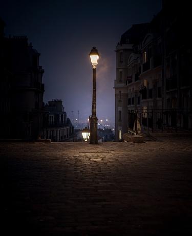 Montmartre lamp post Paris